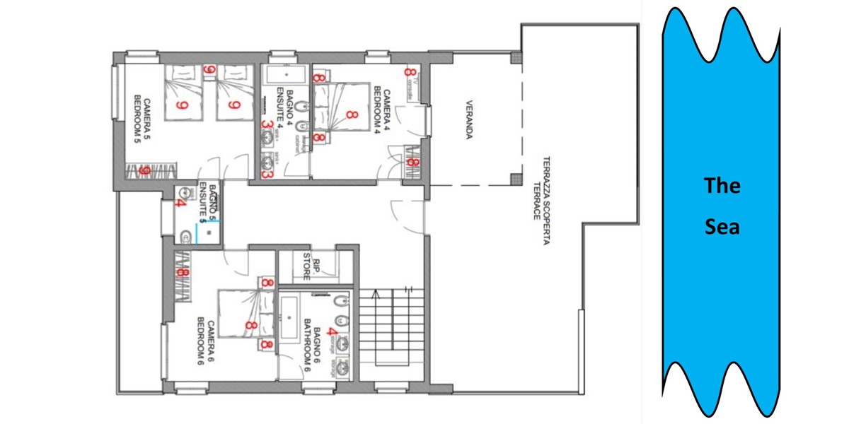 First Floor Plan Sabbia
