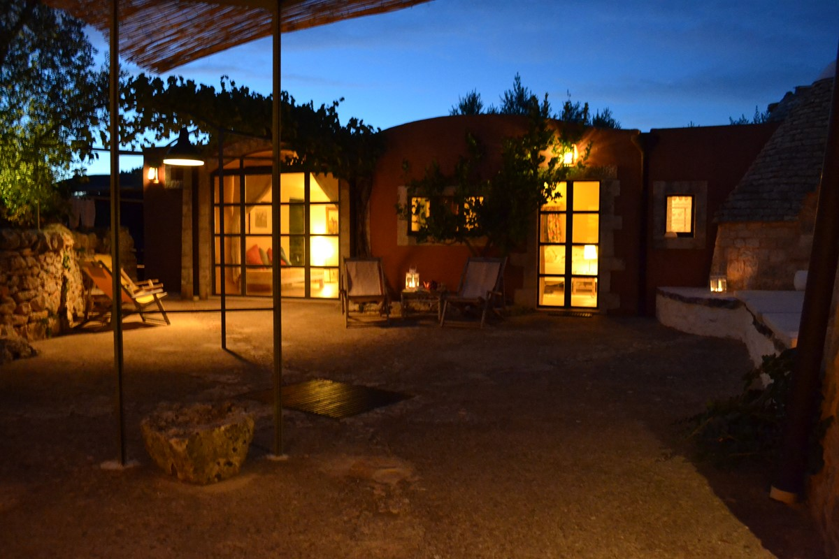Terra Madre Courtyard At Night