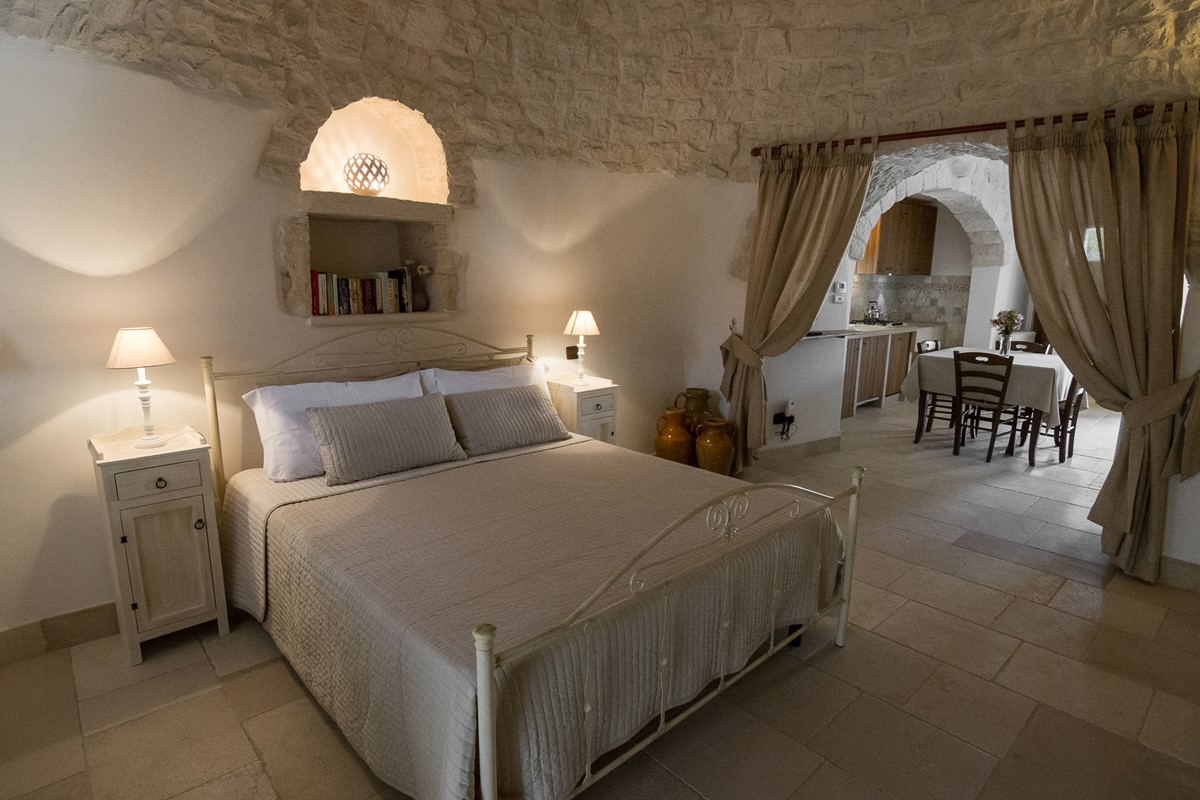 Trullo Loco Bed View To Living Area