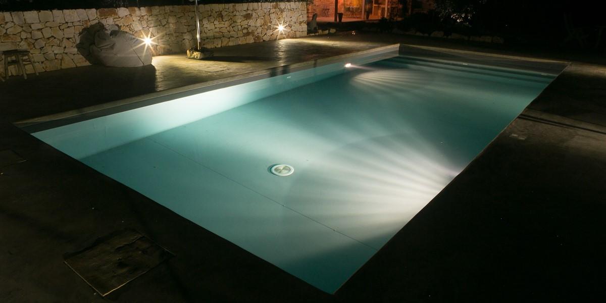 Trullo Lorca Pool At Night