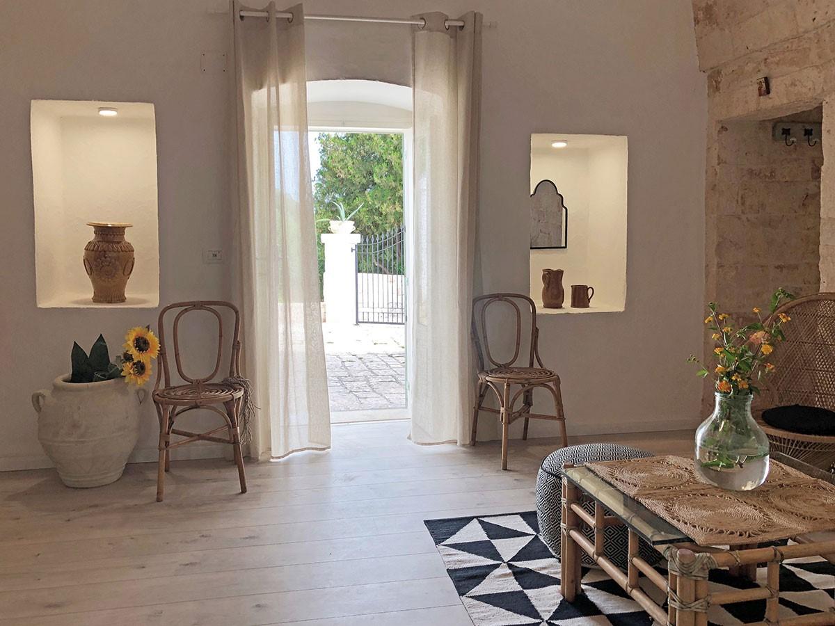 Puglia Holiday Rentals Apt Almond Living Room Ent