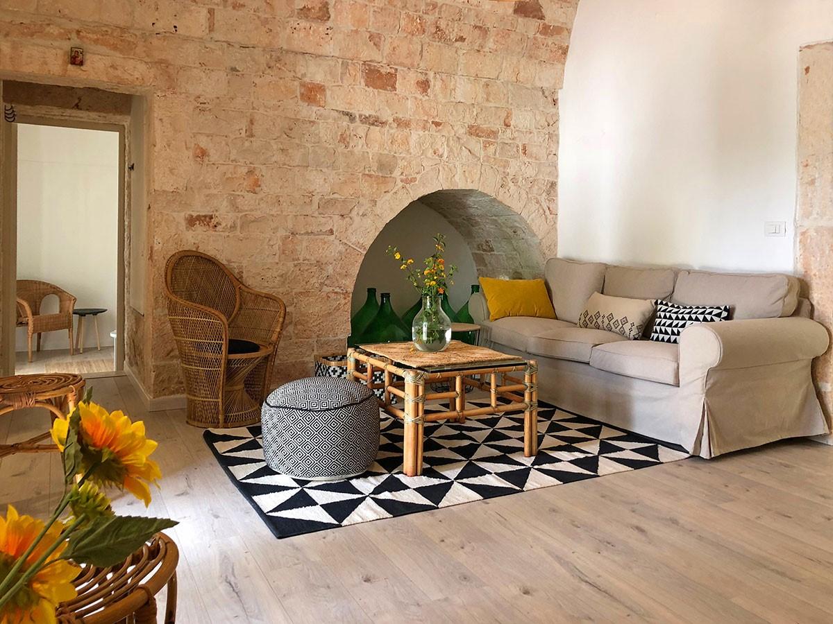 Puglia Holiday Rentals Apt Almond Living Room