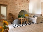 Puglia Holiday Rentals Apt Almond Living Room