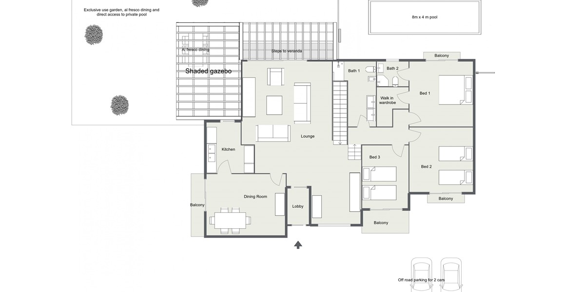 Claudia Apt 1 2D Floor Plan