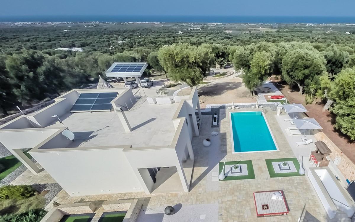 Villa Trullo Sverg Aerial View To Sea
