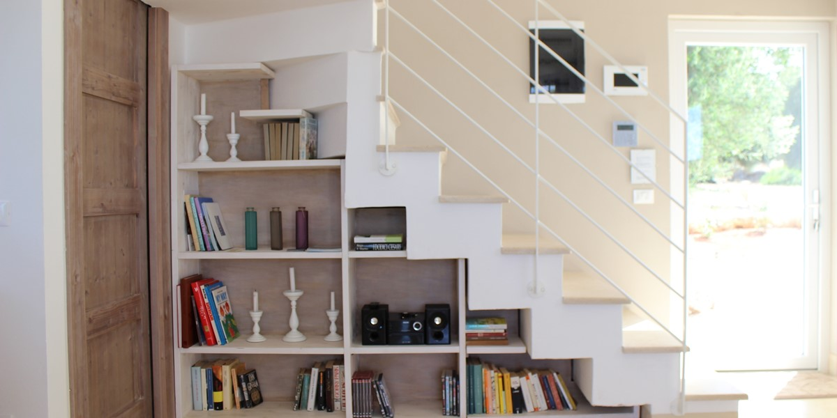 Bookcase Under Stairs