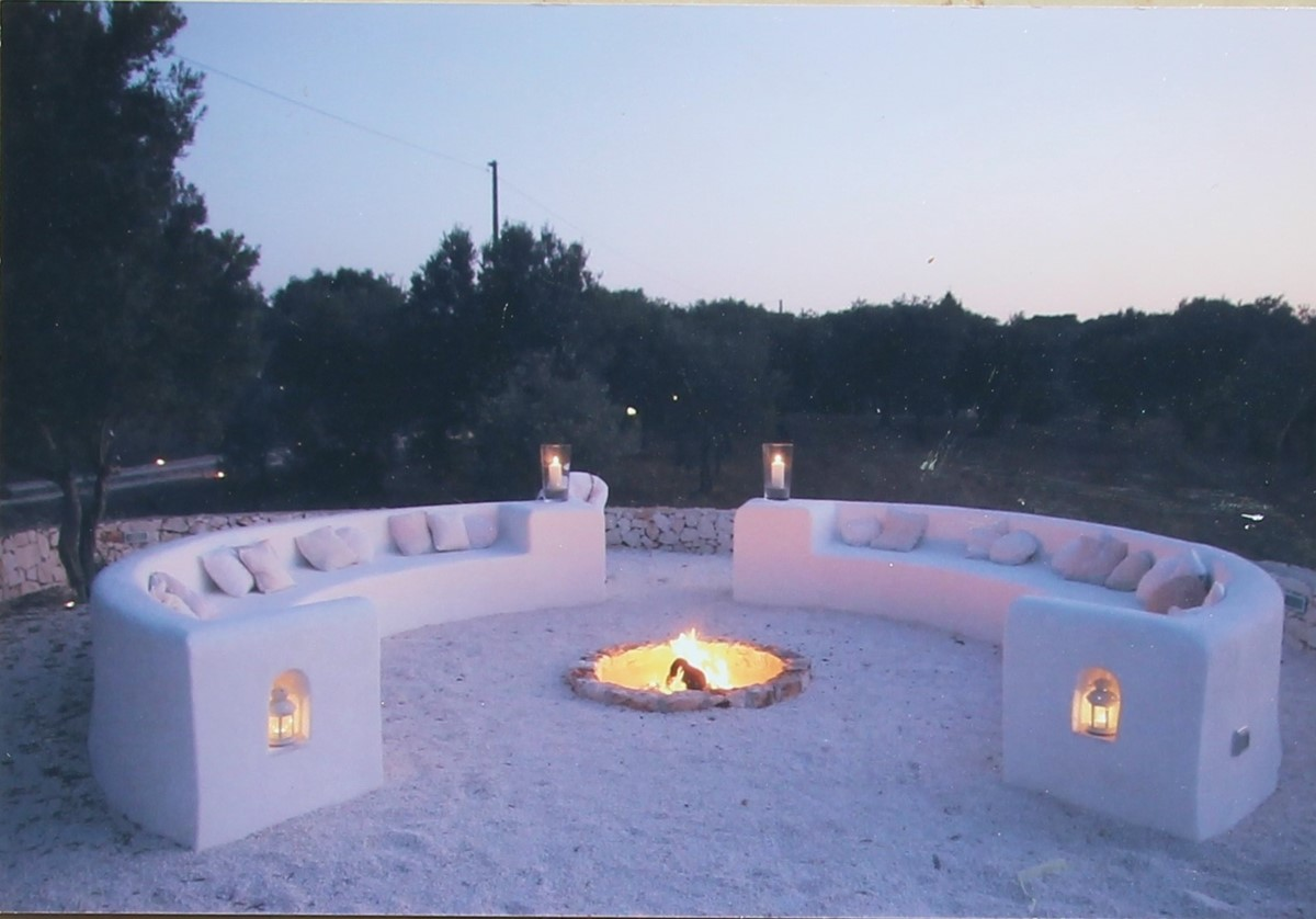 Trullo Formosa View To Fire Pit
