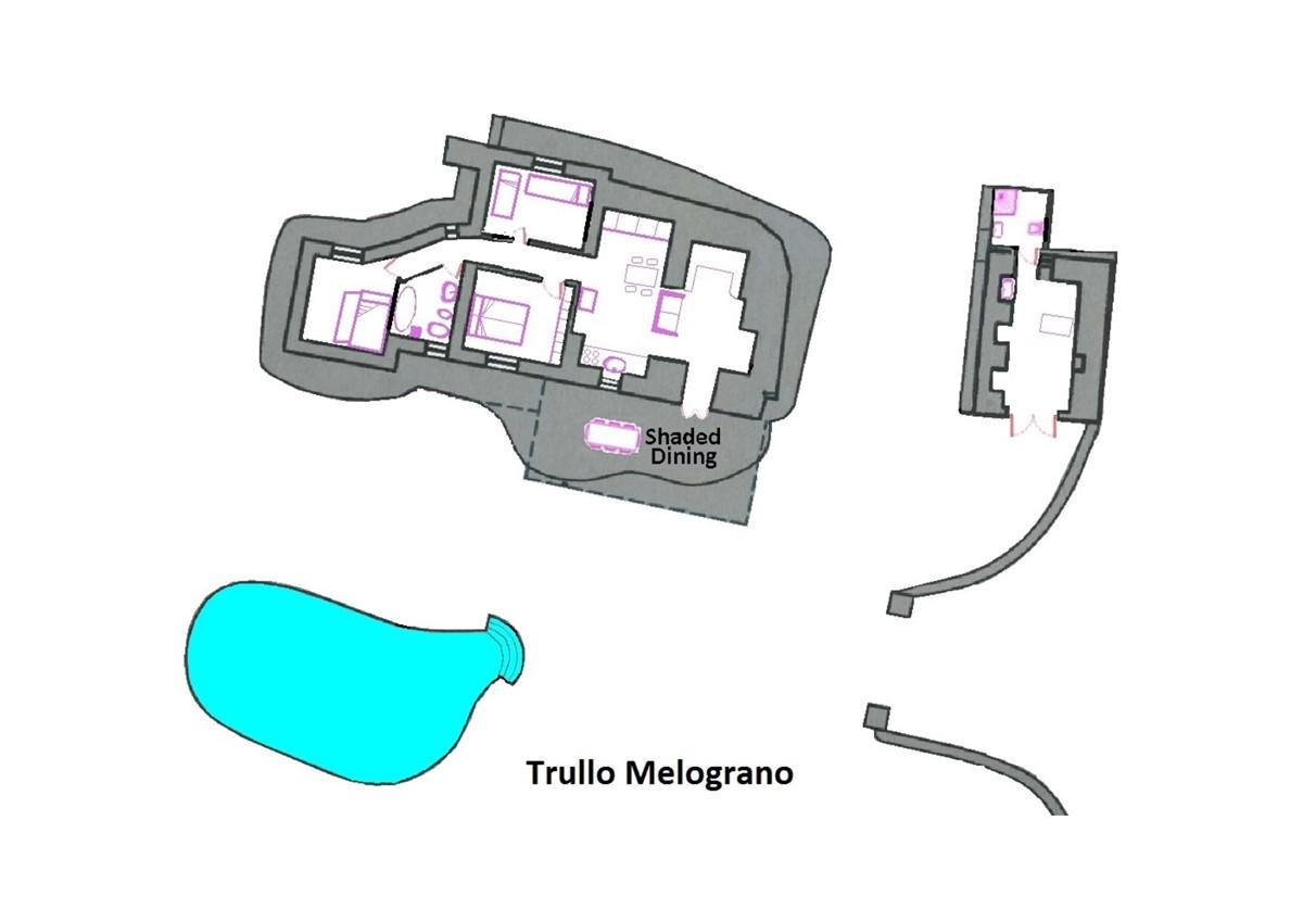 Trullo Melograno Floor Plan