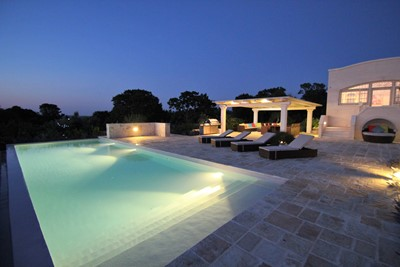 Villa Ponderosa Pool At Night
