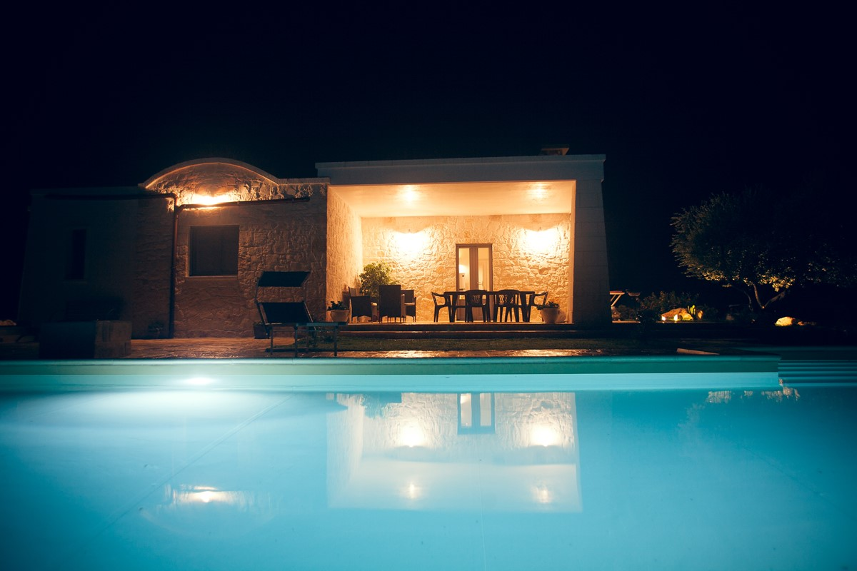 Villa Sudest Pool At Night