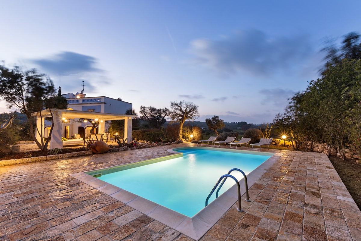 Masseria Sessana Pool At Night